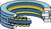 двойной упорный конический роликоподшипник