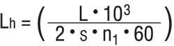 формула расчета срока службы линейной втулки