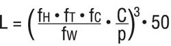 формула расчета срока службы линейной втулки в километрах