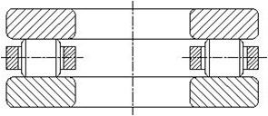 Роликоподшипник упорный однорядный 81200