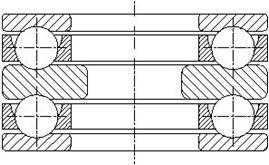 Шарикоподшипник упорный двойной 52300