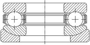 Сдвоенный упорно-радиальный шарикоподшипник 53300 + U300