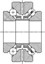 Сдвоенный упорно-радиальный шарикоподшипник 234700
