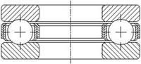 Шарикоподшипник упорный одинарный 51200