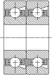 Шарикоподшипники радиально-упорные двухрядные и сдвоенные