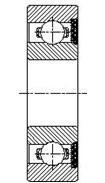 Шарикоподшипник радиальный однорядный 160200