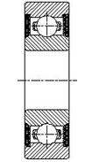 Шарикоподшипник радиальный однорядный 180300