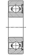 Шарикоподшипник радиальный однорядный 60400