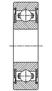 Шарикоподшипник радиальный однорядный 80020