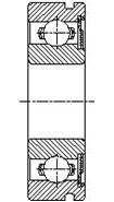 Шарикоподшипник радиальный однорядный со стопорной канавкой 150300