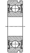 Шарикоподшипник радиальный однорядный со стопорной канавкой 450200