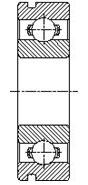 Шарикоподшипник радиальный однорядный со стопорной канавкой 50300